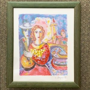 "🎉 HP 🎉 Vintage Art w/COA ""Beauty and Beau"""